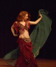 Piper's lyrical and dynamic veil dancing at Belly Dance Magic 2007 275D