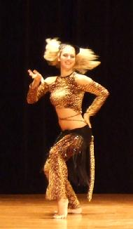 Cheryl dances Piper's Stray Cat choreography at Belly Dance Magic 2007