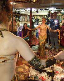 Piper shopping for new dress for 2007 Belly Dance Magic at the Baltimore Museum of Art