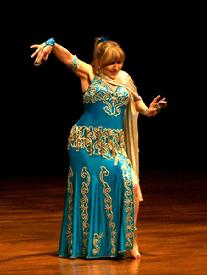Artemis performs a traditional Turkish Romany dance at the Baltimore Museum of Art for Belly Dance Magic 2007 338