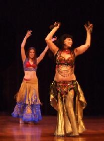 Leyla Fahada and Rhea at Belly Dance Magic 2007