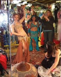 The Baltimore Daughters of Rhea Belly Dance Troupe 2007 shopping trip