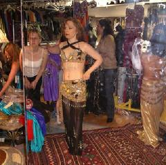 The Daughters of Rhea Dance Ensemble choose costumes for 2007 Belly Dance Magic