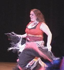 "Stephania of Daughters of Rhea in Piper's ""Rampi"" choreography"