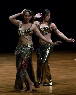 "Bastet and Amelia perform Piper's ""in the music"" drum solo choreography at Belly Dance Magic 2007"