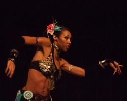 Naimah performs an acrobatic Tribal style belly dance at Belly Dance Magic 2007 439
