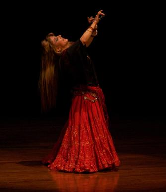 Artemis performs a traditional Turkish Romany dance at the Baltimore Museum of Art for Belly Dance Magic 2007