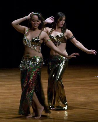 "Bastet and Amelia perform Piper's ""in the music"" drum solo choreography at Belly Dance Magic 2007 #197A"