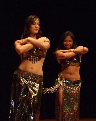 Amelia and Rowena at Belly Dance Magic 2007