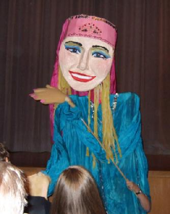 Nina Amaya's 9 foot tall dancing puppet at Belly Dance Magic 2007