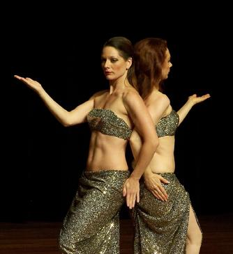 Pharaonic Style Belly Dance Choreography - Melina and Piper 2007