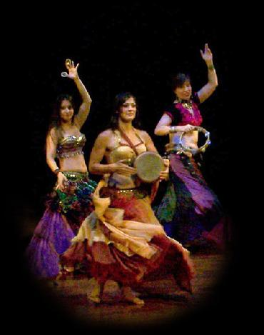 "Stephanie, Amelia, and Naramissa perform Rhea's ""Sibek"" choreography at Belly Dance Magic 2007"