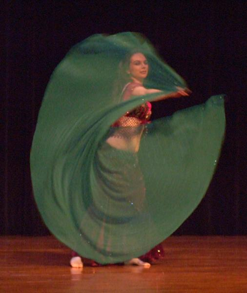 Piper's lyrical and dynamic veil dance at Belly Dance Magic 2007