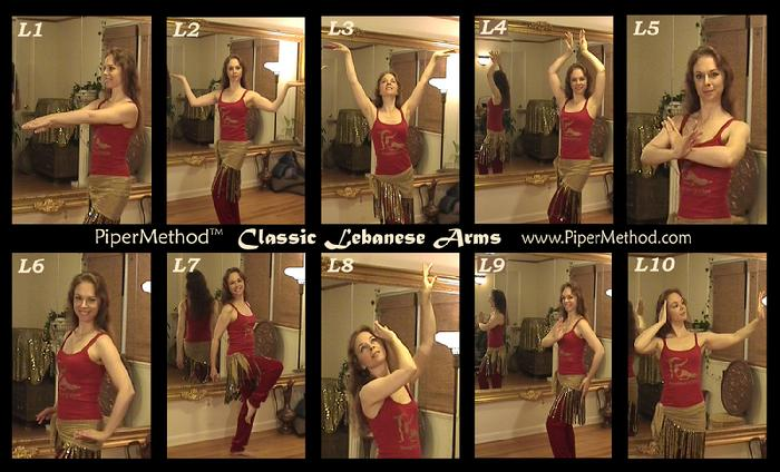 PiperMethod Arm Positions for Classic Lebanese Style Belly Dance